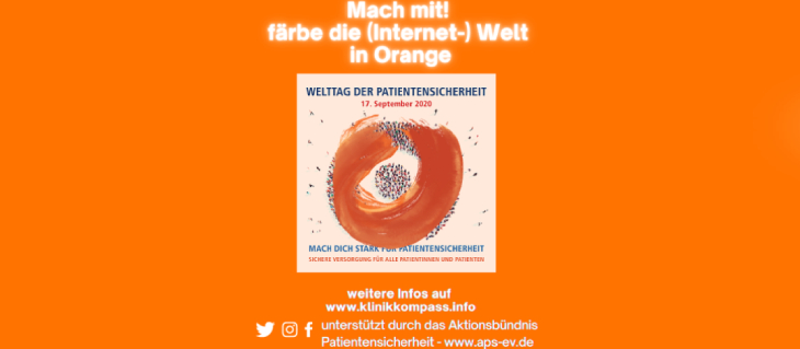 Plakat: Tag der Patientensicherheit